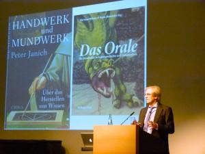 Prof. Dr. Hartmut Böhme, Ringvorlesung SS 15, Haus der Universität, 21. April 2015